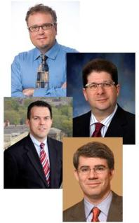 McGowan Institute faculty members (from top) Drs. David Vorp, J. Peter Rubin, William Wagner, and Thomas Gleason