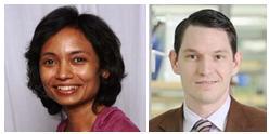 McGowan Institute affiliated faculty member Dr. Ipsita Banerjee (top) and McGowan faculty member Dr. Steven Little (bottom)