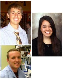 McGowan Institute PhD candidates (clockwise from top) Denver Faulk, Lindsey Saldin, and Tim Keane
