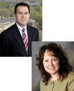 From top: McGowan faculty members Drs. William Wagner and Kacey Marra