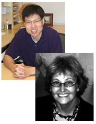 McGowan faculty members Drs. Yadong Wang (top) and Donna Stolz